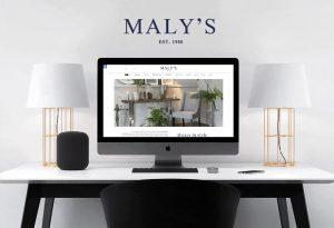 בניית אתר לחברת Maly's