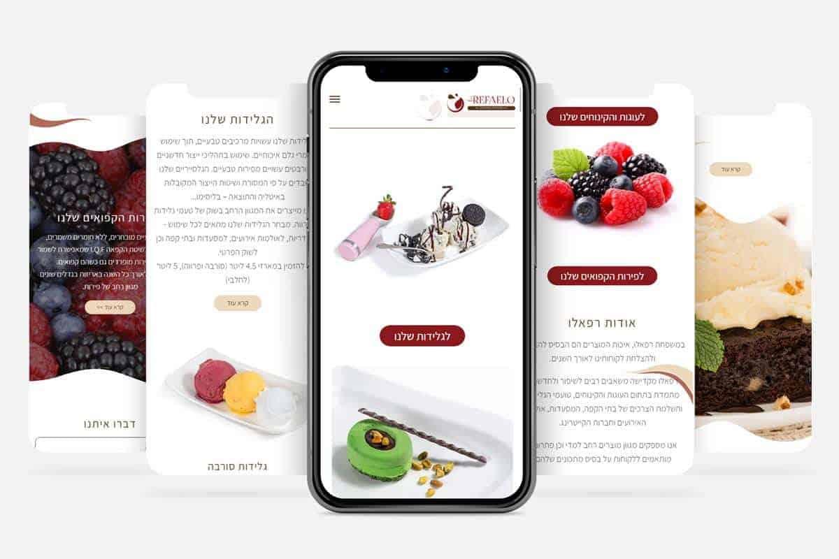 מיתוג עסקי לחברת רפאלו גלידות