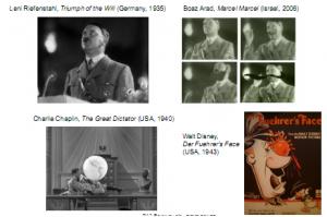 הדימוי החזותי של הפיהרר, מתוך הסרט ''ניצחון הרצון''
