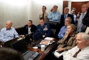 הבית הלבן בעת המבצע לחיסול אוסמה בן לאדן, 2 במאי 2011