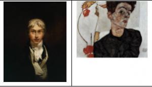 שני דיוקנים של ציירים גדולים